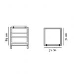 IBC Kasse Container tegning med dimensioner