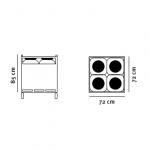 IBC Multi Container tegning med dimensioner