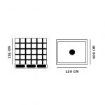 Palletank tegning med dimensioner