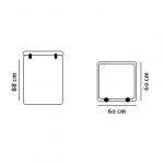 Serviceboks tegning med dimensioner