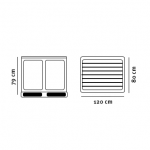 Akkumulatorkasse tegning med dimensioner