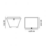 Kran- /Grabcontainer (3,75m3) tegning med dimensioner