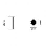 Lyskilderør tegning med dimensioner