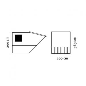 Midicontainer (8m3) tegning med dimensioner